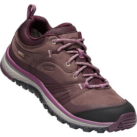 Keen Terradora Leather WP Shoes Dame peppercorn/wine